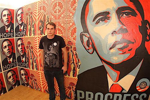 Shepard Fairey, artista urbano, 'Street Art'